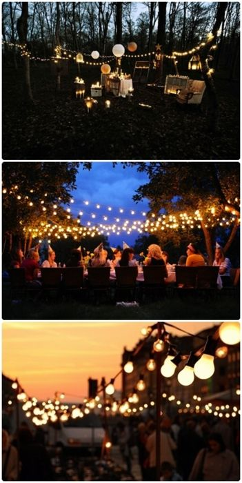 Best 25 outside party lighting ideas on pinterest to for Outside lighting ideas for parties