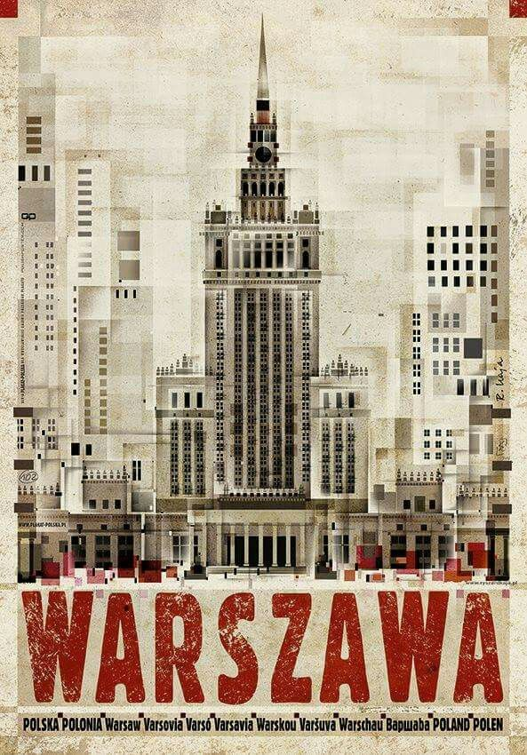 """Warszawa"" (2016) poster by Ryszard Kaja"