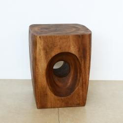 Tapered Peephole Chestnut Oil Stand (Thailand) | Overstock™ Shopping - Top Rated Coffee, Sofa & End Tables