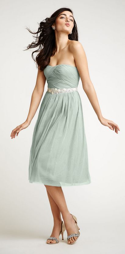 Grayed Jade bridesmaid dress by BHLDN greyed jade wedding | dusty teal | www.endorajewellery.etsy.com