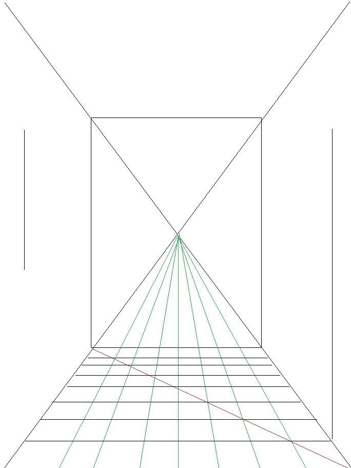 how to draw perspective room