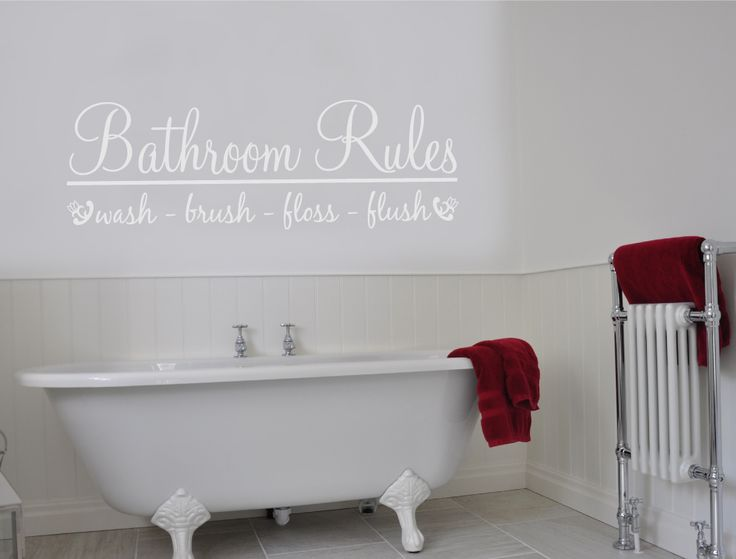 Bathroom Rules Wall Art Sticker