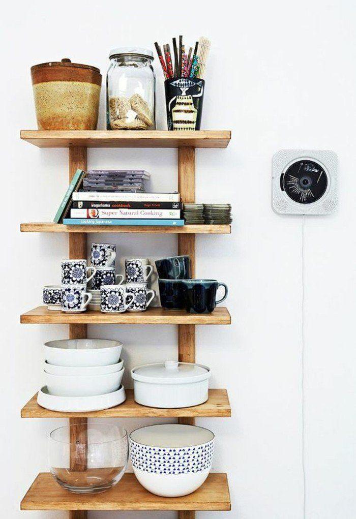 etagere murale bois clair. Black Bedroom Furniture Sets. Home Design Ideas