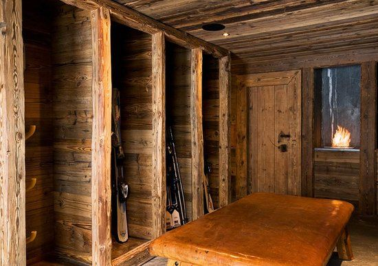 Amazing Ski Cabin, Love the Ski Storage Idea
