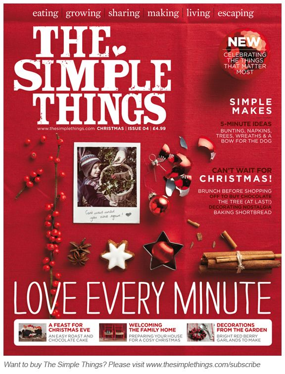 It's here! Issue 4 is available in the shops today, and we think you'll LOVE the selection of brilliant Christmassy ideas that we've hand-picked to make YOUR festive season even more of a pleasure! To take a sneaky peek inside, click on the picture...