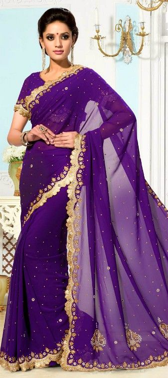Love this purple saree. Click on image for full view.