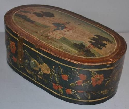 Brides Box: Amazing Early Antique Dated 1850 European German Bentwood