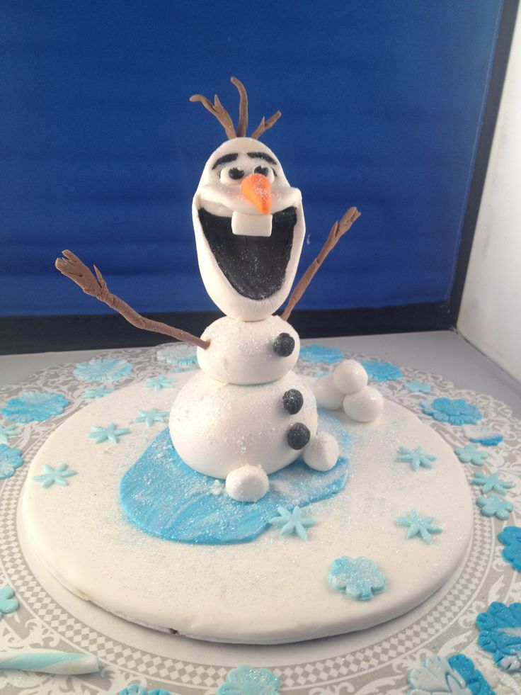 Cake Decoration Olaf : Olaf Cake Topper for a birthday cake, Snow man character ...