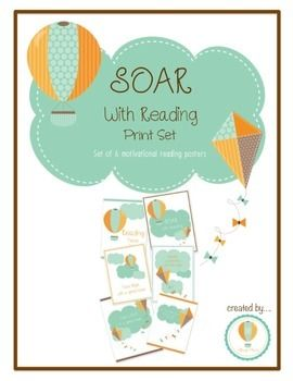 Soar With Reading on March 3rd - Set of 6 Motivational ...