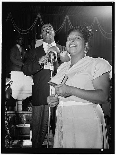 Portrait of Machito and Graciella Grillo, Glen Island Casino, New York, N.Y., ca. July 1947.  Photograph. Gottlieb, William P.  William P. Gottlieb Collection. Library of Congress Photographs and Prints Division.
