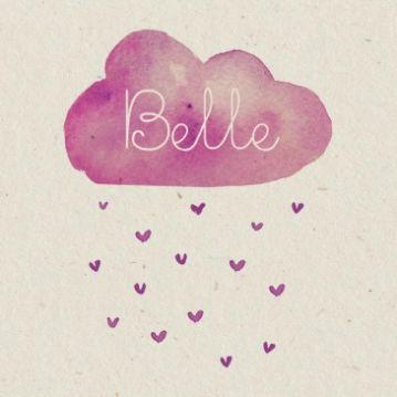 Voor een wolk van een baby!  door Snoesjes  Belle | hartjesregen