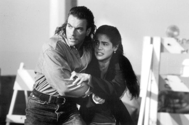 Still of Jean-Claude Van Damme and Yancy Butler in Hard Target (1993)