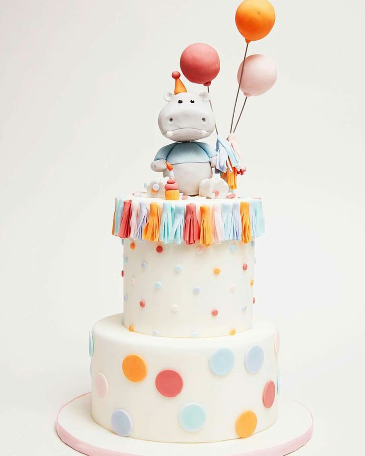 Hippo S 1st Birthday Cake