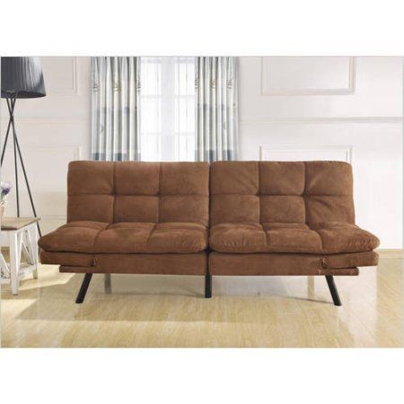 Mainstays Memory Foam Convertble Futon, Camel Mainstay
