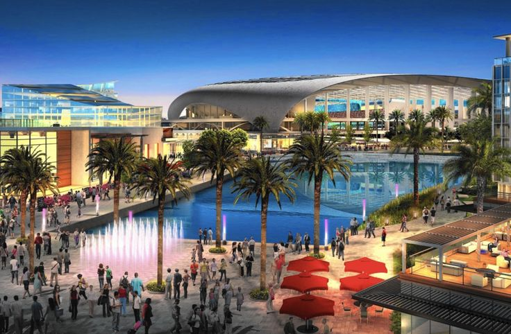 The 'City of Champions' Stadium is the future $3 billion home the Los Angeles Rams. Currently under construction, it will be the NFL's largest and most expensive multipurpose complex.