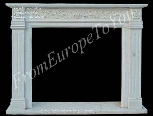 Details about BEAUTIFUL HAND CARVED MARBLE FIREPLACE MANTEL FPL33