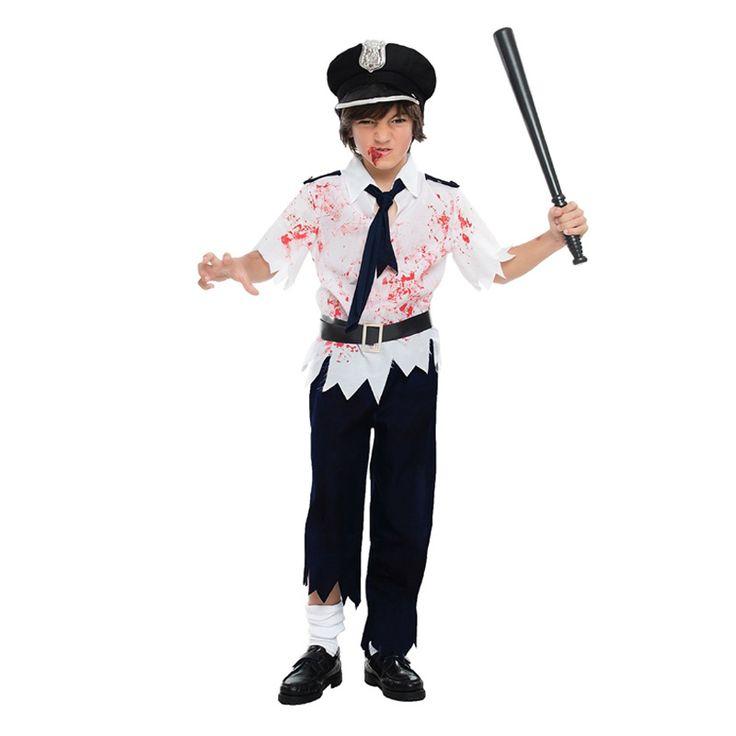 Déguisement Policier Zombie Enfant #déguisementsenfants #costumespetitsenfants #nouveauté2016