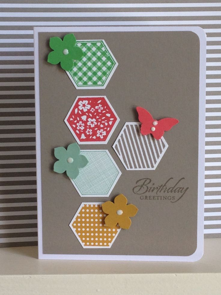 Six-sided Sampler stamps and punched shapes in all the new Stampin Up colours for 2015/2017 - created by Julia Jordan of papercraftelegance.blogspot.co.uk