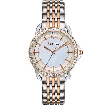 Bulova Ladies Diamond Collection Two Tone Bracelet Watch #ilovetoshop