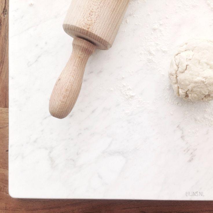 Marmer Keuken Plaat : LIJNS marmer patisserie deegplank marmeren plaat plank tegel