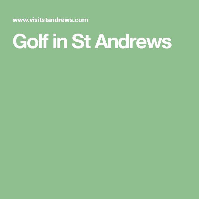 Golf in St Andrews