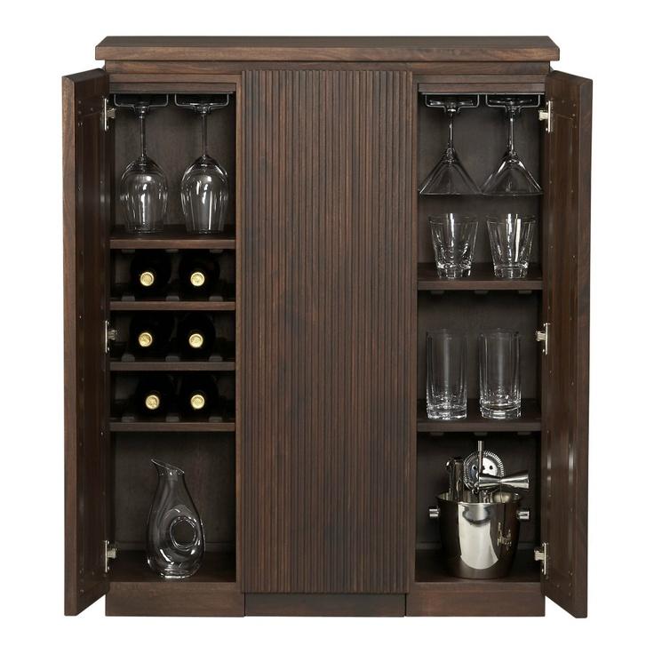 monaco liquor wine rack whiskey glasses storage bar cabinet steamer trunk bar bar cabinet