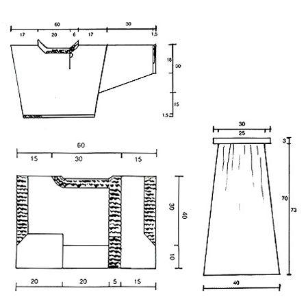 """DROPS 1-22 - Gestrickter DROPS Rock mit großen Taschen, Weste mit großen Taschen, Kurzpullover mit asymmetrischem Halsschlitz, Schurz in """"Verbasco"""". Einheitsgröße/Größe M. - Free pattern by DROPS Design"""