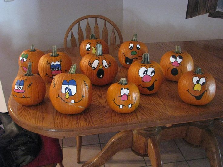 45 best painted pumpkin faces images on pinterest Funny pumpkin painting ideas