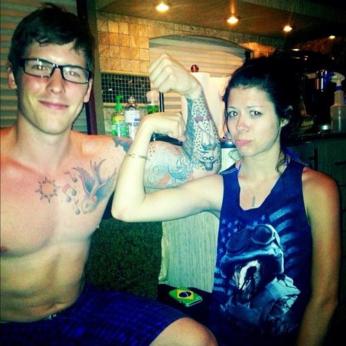Zack Merrick // All Time Low & Tay Jardine // We Are The In Crowd..they need to have babies together..