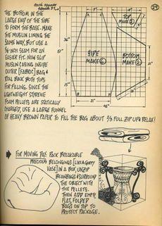 pattern for triangle bean bag - Hledat Googlem