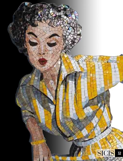 SICIS Pinup Mosaic Collection #SICIS #Mosaic #Pinup #Art