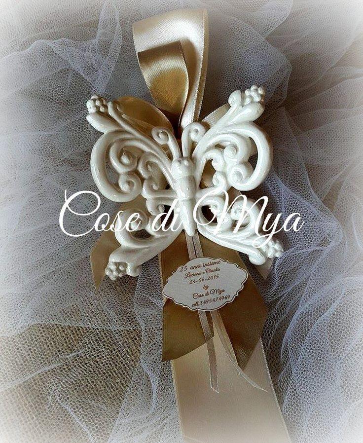 Farfalle Barocche in ceramica, by COSE DI MYA, 240,00 € su misshobby.com