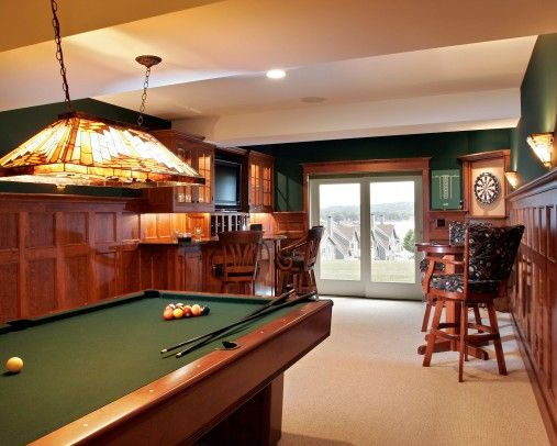 Man Cave Kristan Green : Man cave irish pool table for sure maybe green walls