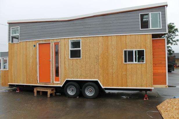 Tiny Home With Orange Door