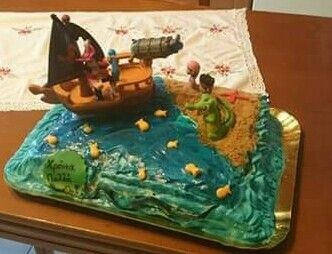 Jake and capten hook birthday Cake