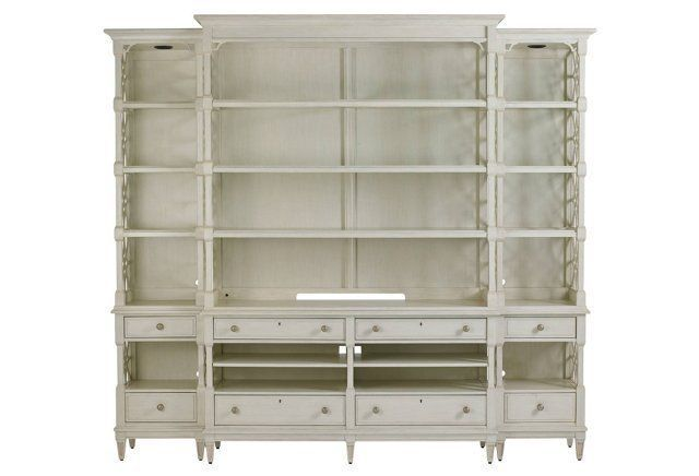 Pavilion Media Bookcase, Gray
