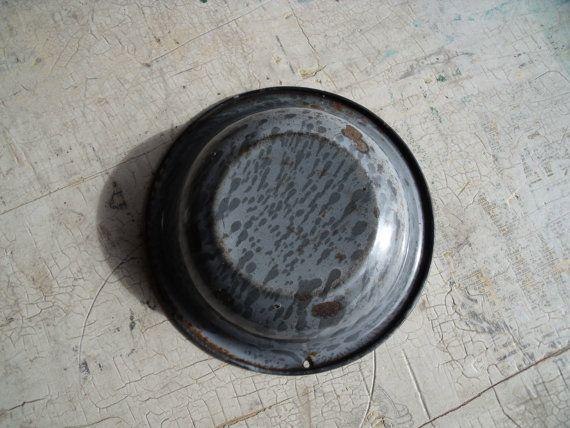 Antiguo Graniteware esmalte gris Salesmans muestra o por WisdomLane
