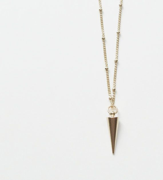 Spike Necklace Layering Necklace Long | SweetheartJewelryBox