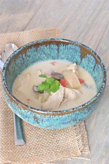 Tom Kha Gai (Thai Coconut Soup) - Danielle Walker's Against all Grain / Wholesome Foodie <3