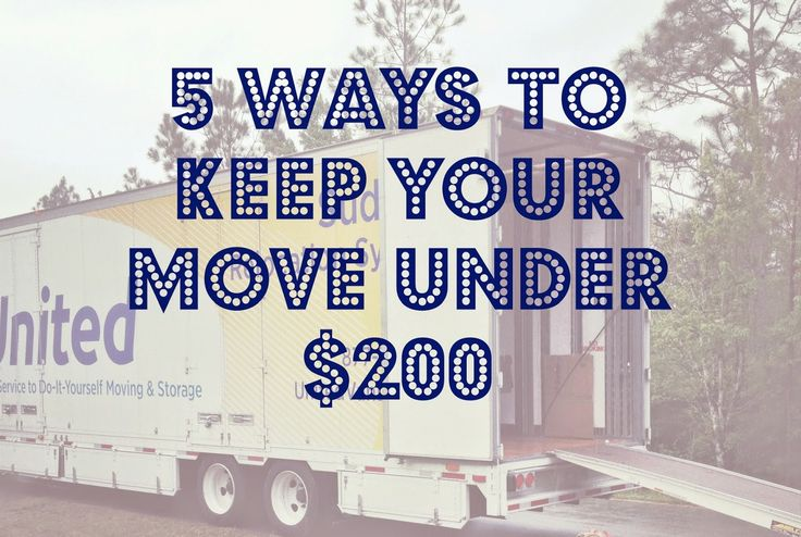 Moving for Cheap: How We Moved To A New City For Under $200