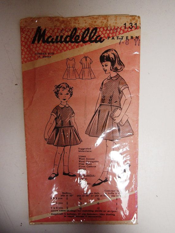 Vintage 1960s Maudella Jumper suit Dress by VintageTwistsPattern, $20.00