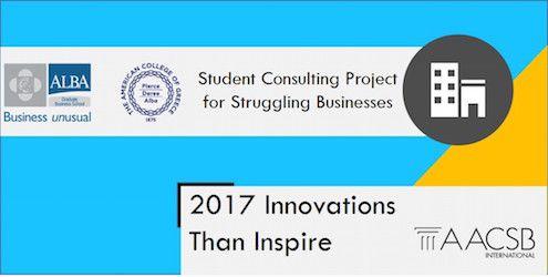 """Η πρωτοβουλία του ALBA """"Student Consulting Projects for Struggling Businesses"""" ανάμεσα στα 35 καλύτερα παγκόσμια παραδείγματα! #AACSBInspires #businessunusual"""