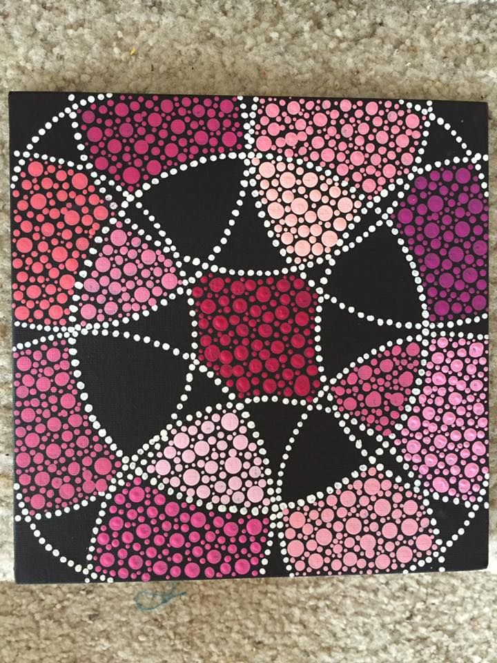 Shades of Pink Dots 8x8