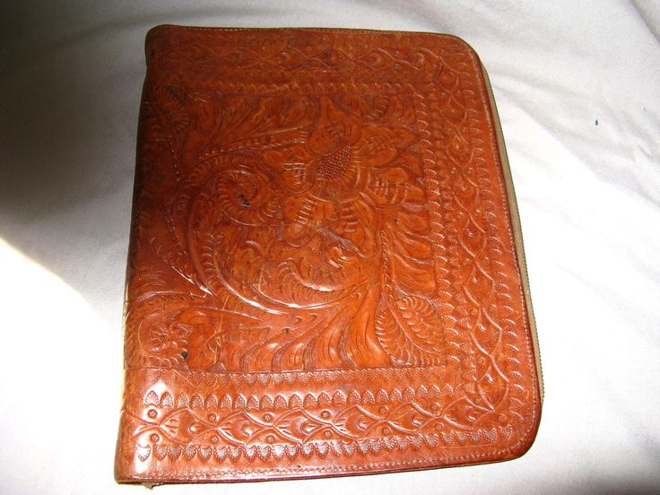 1940's Vintage Tooled Leather 3 Ring Binder, Portfolio for Artist, Student, Use for Diary, Zipper Closure, Rich Brown Leather Patina by TheInstantMemory on Etsy https://www.etsy.com/listing/249969099/1940s-vintage-tooled-leather-3-ring