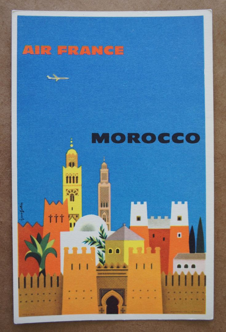 Jean Fortin / Air France - Morocco / 1960s