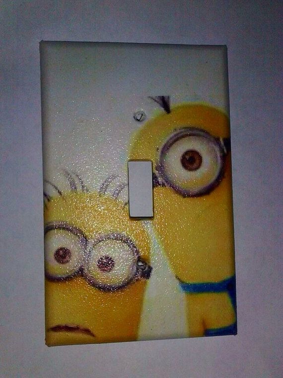 Despicable Me Minions Switch Plate Cover Kids by SwitchTheOutlet, $7.00