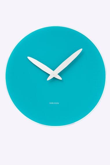 Turquoise Bold Hand Clock