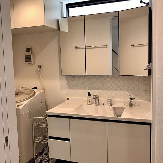 バス トイレ Kawajun ルミシス Lixil 洗濯機周り などのインテリア実例 2017 05 28 16 10 51 Roomclip ルームクリップ インテリア 実例 インテリア 洗面台