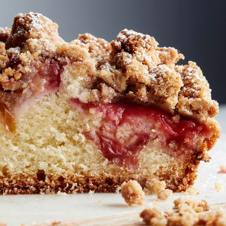 Plum Streusel Coffeecake - add 1 large egg white to streusel topping ingredients and proceed with directions for topping!