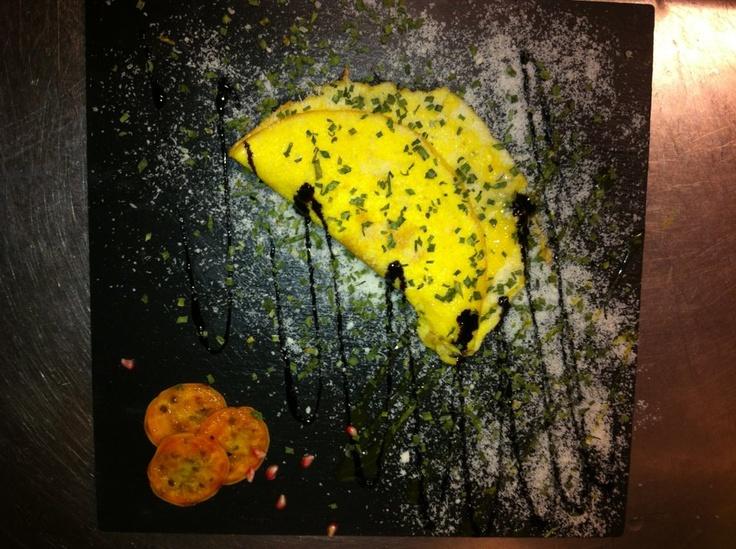 Omelette al gorgonzola di bufala